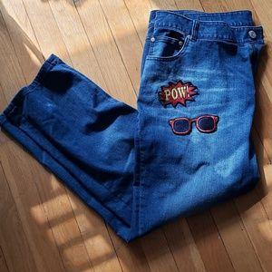 Eloquii Applique Jeans Like New